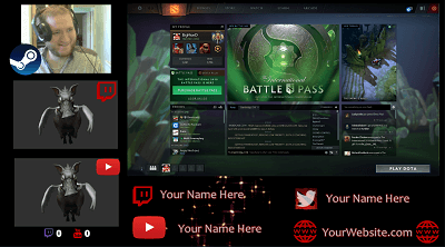 Stream Labs OBS Overlays for Dota | BigMonD co uk